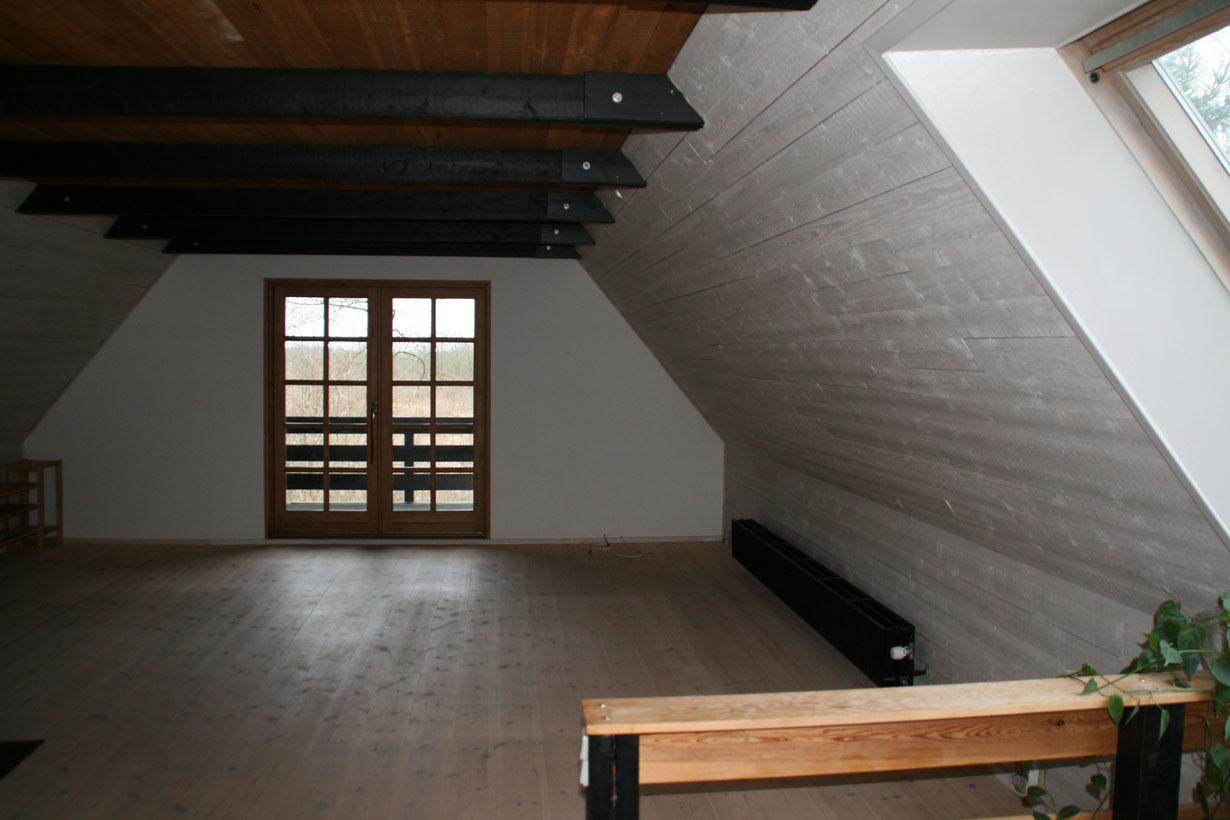 Belysning i rum med loft til kip